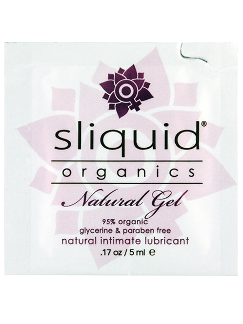 Sliquid Organics Natural Lubricating Gel - .17 oz Pillow