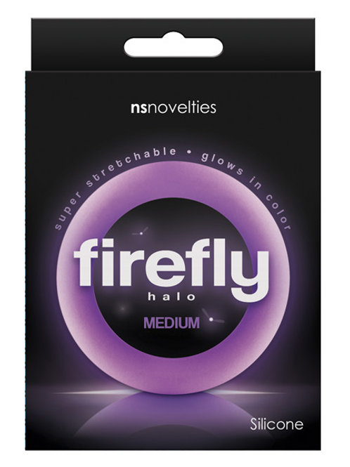 Firefly Halo Medium Cockring - Purple