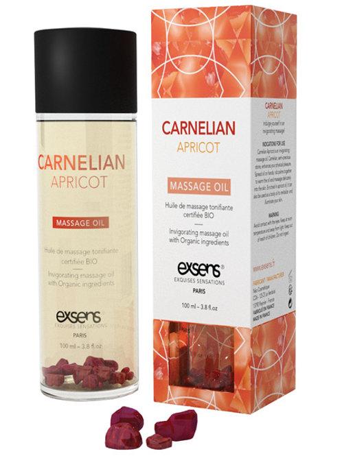 EXSENS of Paris Organic Massage Oil w/Stones - Carnelian Apricot