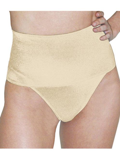 Rago Shapewear Soft Wide Band Thong Shaper Beige 2X