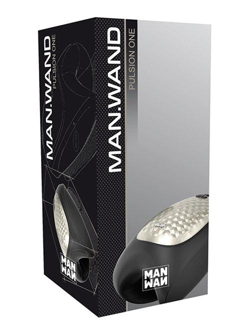 Man Wand Heat and Vibration Pulsion - Black