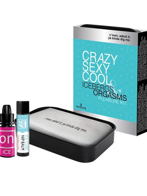 Sensuva Crazy Sexy Cool Icebergs & Orgasms Pleasure Kit