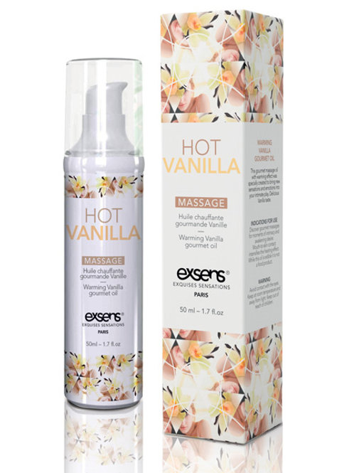 EXSENS of Paris Warming Massage Oil - Hot Vanilla