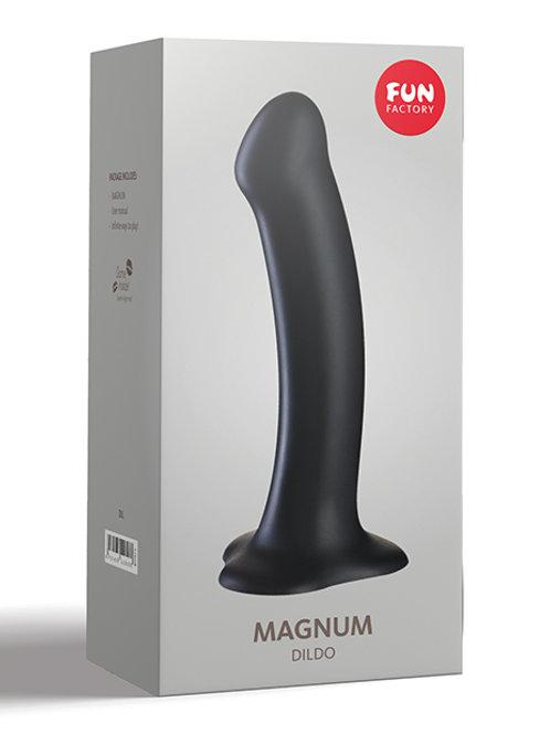 """Fun Factory Magnum 7"""" Silicone Dildo - Black"""