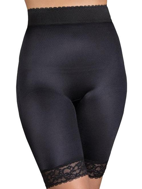 Rago Shapewear Long Leg Shaper w/Gripper Stretch Lace Bottom Black LG