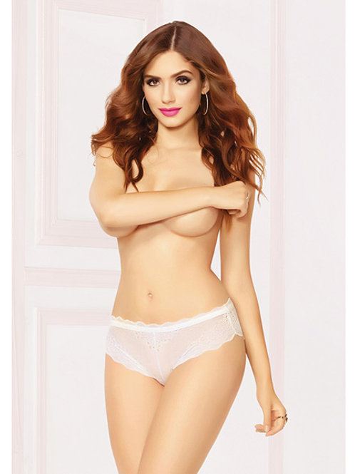 UPC: 888208304874 High Waisted Panty w/Lace Up Back White MD