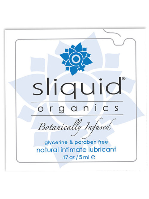 Sliquid Organics Natural Intimate Lubricant - .17 oz Pillow