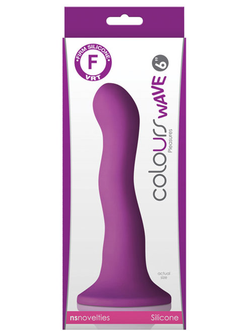 "Colours Wave 6"" Dildo - Purple"