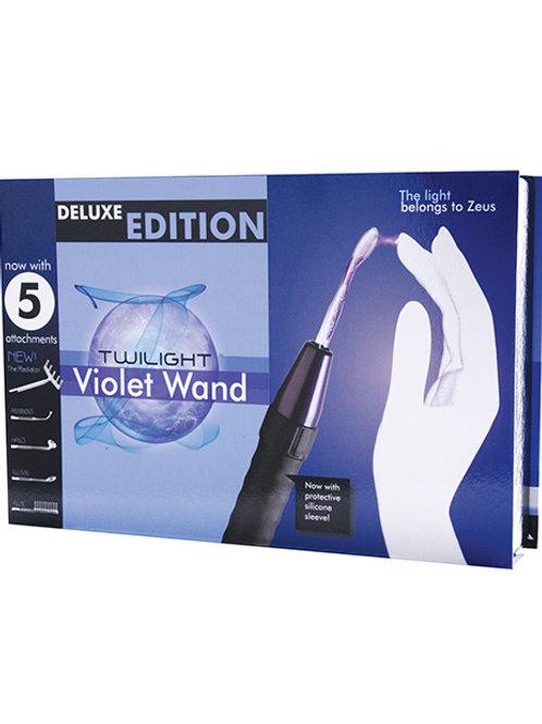 Zeus Electrosex Deluxe Edition Twilight Violet Wand w/5 Attachments