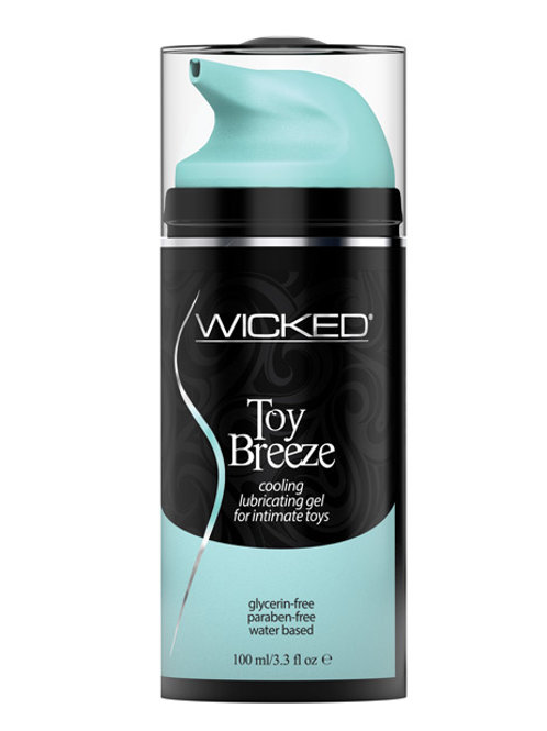 Wicked Sensual Care Toy Breeze Water Based Cooling Lubricant - 3.3 oz