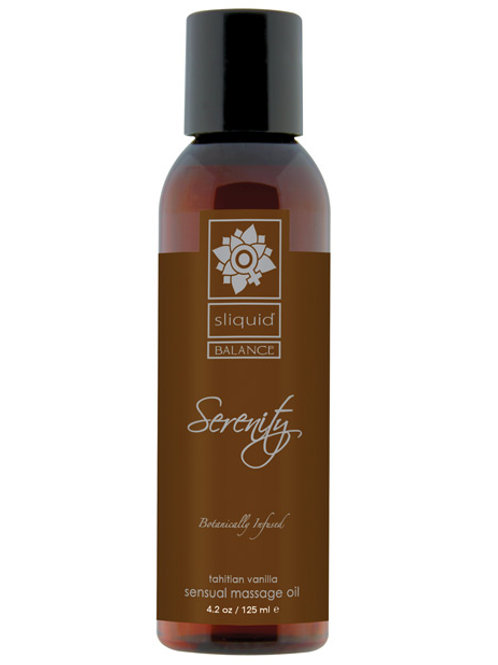 Sliquid Organics Massage Oil - 4.2 oz Serenity