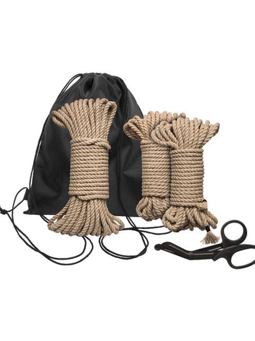 Kink Bind & Tie Initiation Hemp Rope Kit - 5 pc Kit