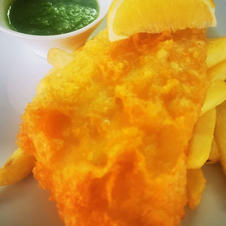 FISH, DELICIOUSLY BATTERED WITH BEER