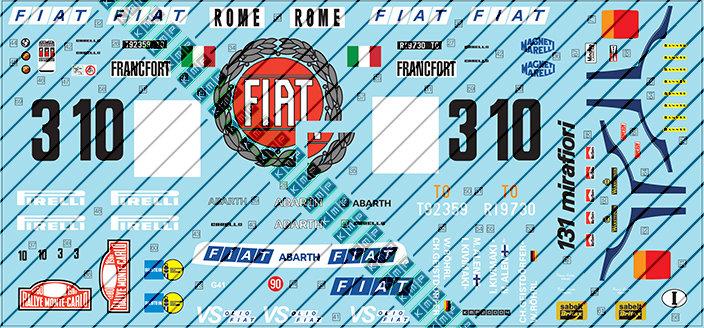 Tamiya Fiat 131 Montecarlo Winner 1:20
