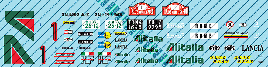 Lancia Stratos Alitalia 1:20