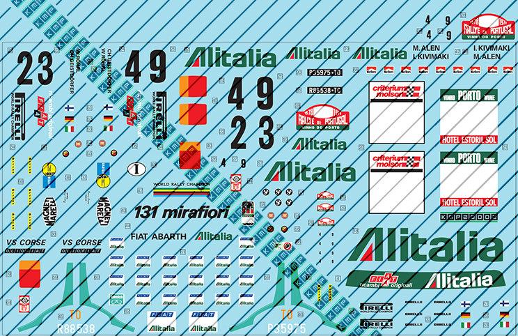 Tamiya Fiat 131 Alitalia 1:20