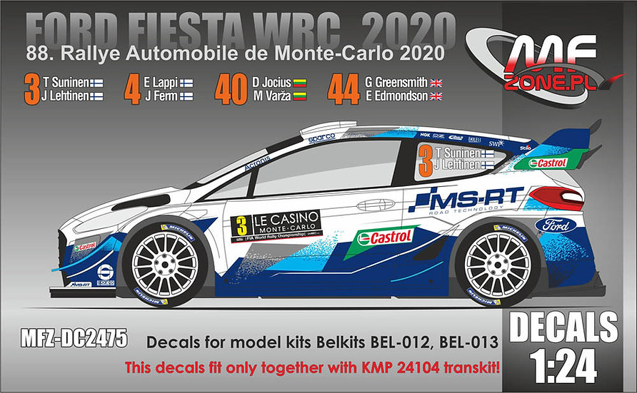 Ford Fiesta WRC+ 2020 decals