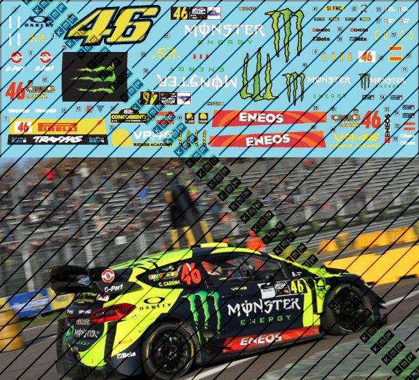 VR46 2018 Monza Rally Show - sponsors only