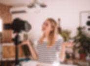 Weiblicher Vlogger