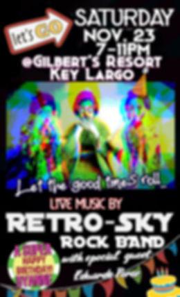 Retro-Sky Rock Band gilberts resort key