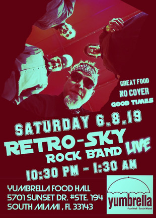 RETRO-SKY rock band LIVE Yumbrella South