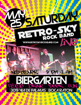 retro sky rock band biergarten boca rato