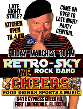retro sky rock band CHEERS ft. lauderdal