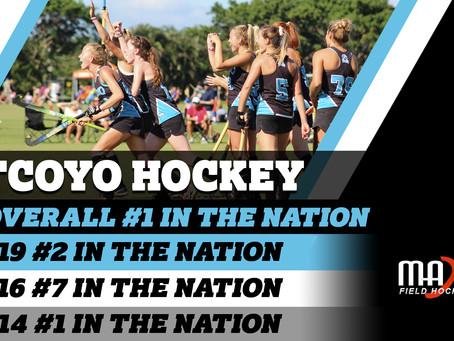 TCOYO Hockey ranks #1 in the Nation