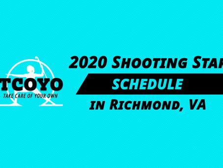 2020 Shooting Star Schedule