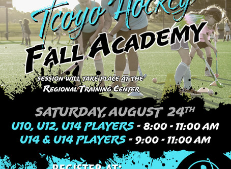 Fall Academy - August 24th