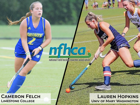 Felch & Hopkins named to Victory Sports Tours/NFHCA Senior Game Roster