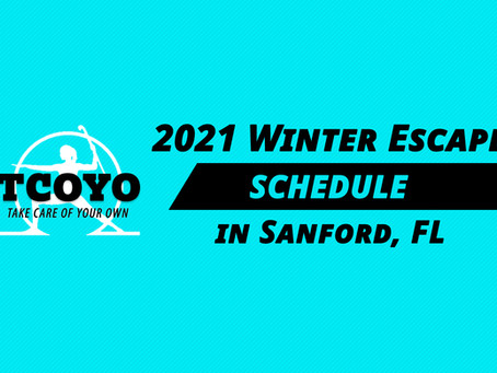 2020 Winter Escape Schedule