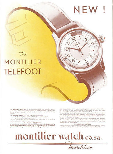 Montilier advert 1946 for its Telefoot model.