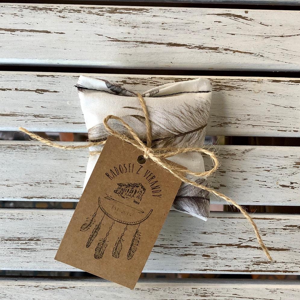Aniesonge levandulový polštářek - peříčka od anie songe
