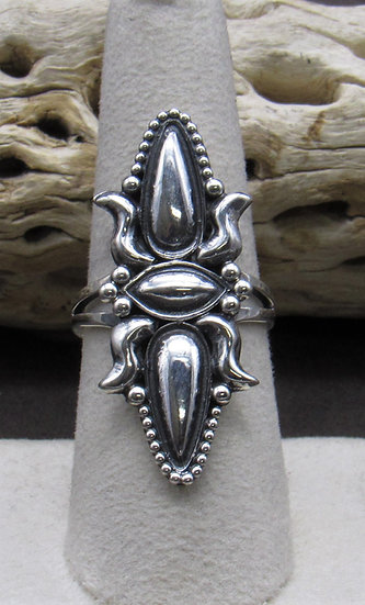 Navajo Sterling Silver Ring Size 8