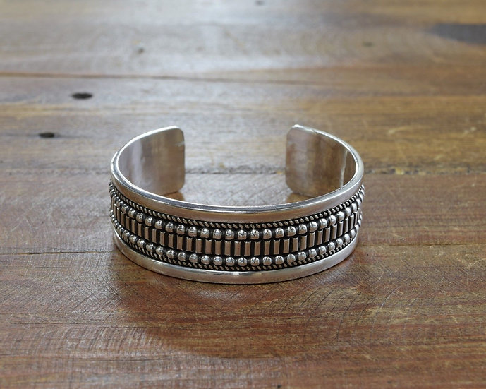 Navajo Sterling Silver Cuff Bracelet by Ron Yazzie