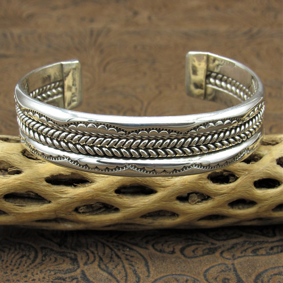 Sterling Silver Cuff Bracelet by Fred Maloney