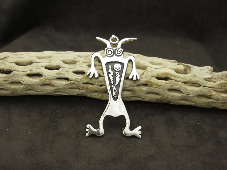 Sterling Silver Creatures and Kritters Overlay Pendant