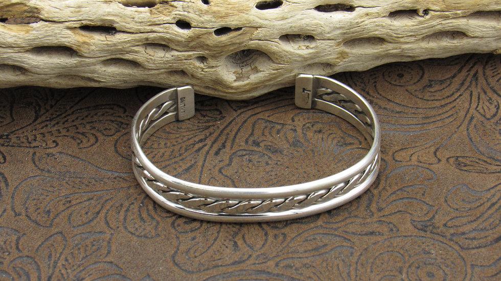 Braided Sterling Silver Cuff Bracelet
