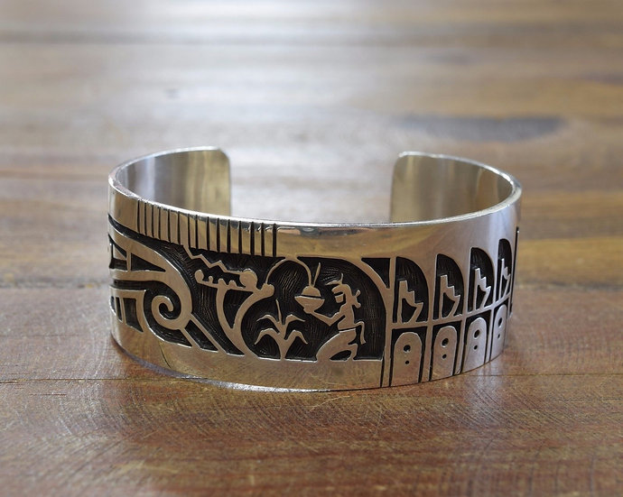 Sterling Silver Overlay Bracelet By Tim Yazzie
