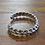 Thumbnail: Vintage Southwestern Sterling Silver Braided Cuff Bracelet