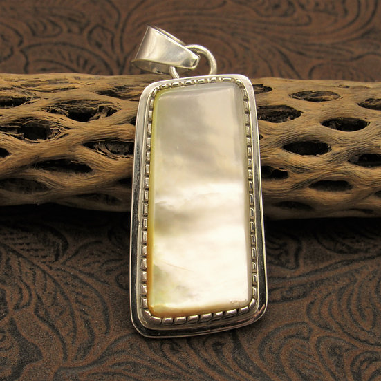 Large Navajo Mother of Pearl Pendant by Tommy Jackson