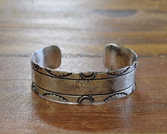 Vintage Sterling Silver Stamped Bracelet