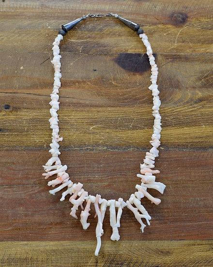 Vintage Angel Skin Coral Necklace
