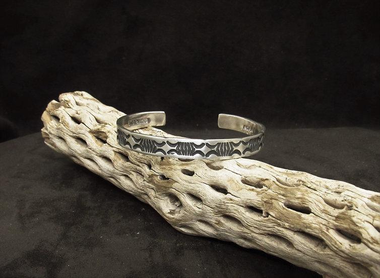 Handmade Sterling Silver Overlay Cuff Bracelet