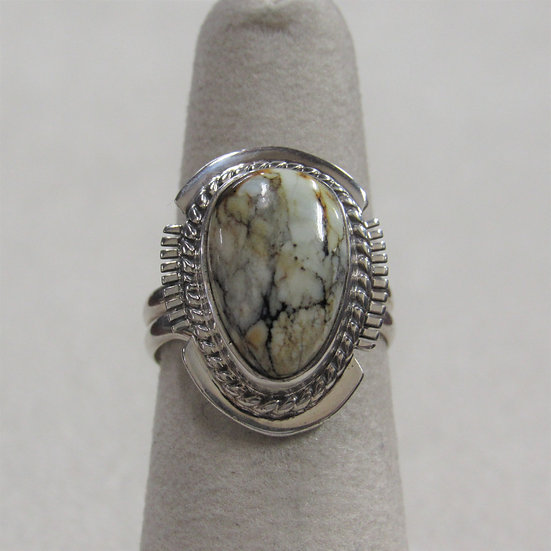 Sterling Silver and Variscite Ladies Ring by Larson L Lee
