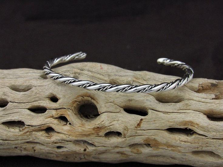 Twisted Sterling Silver Cuff Bracelet
