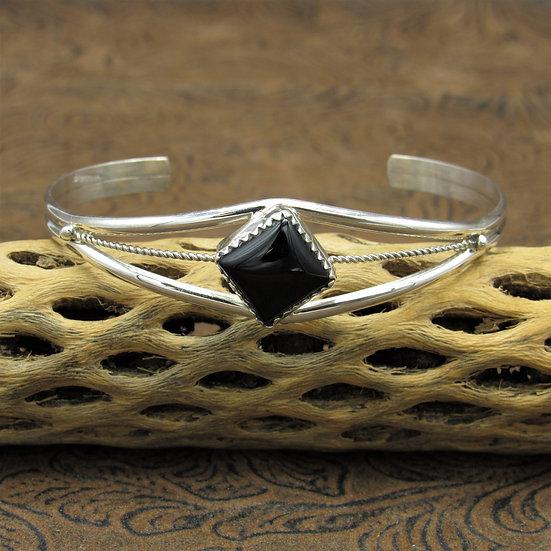 Onyx Split Shank Bracelet