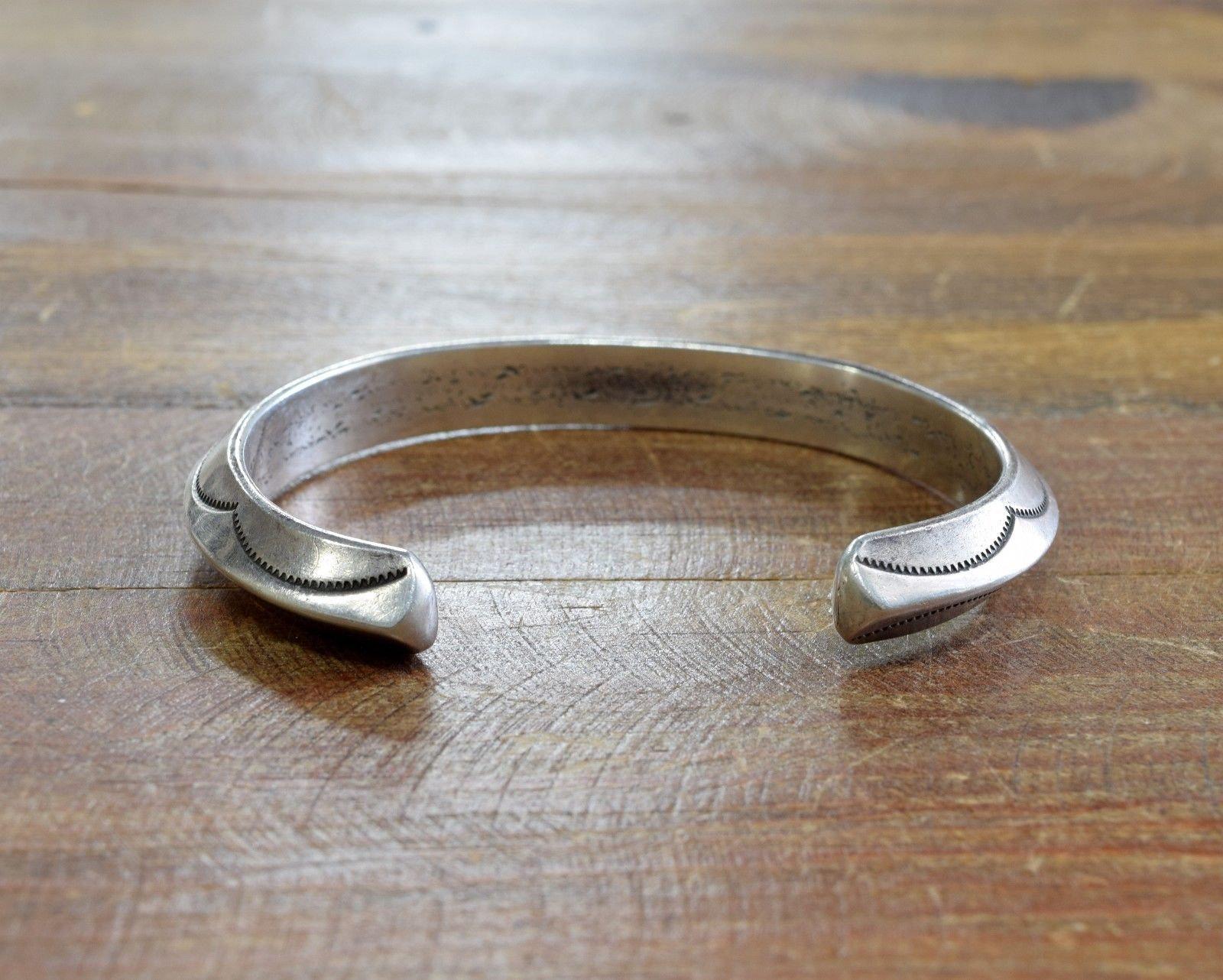 Vintage Southwestern Sterling Silver Triangle Wire Cuff Bracelet 7 25