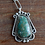Thumbnail: Handmade Sterling Silver Green Turquoise Pendant and Chain Necklace